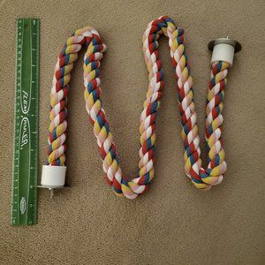 NWOT Multicolored Zig Zag Perch, Cotton Rope